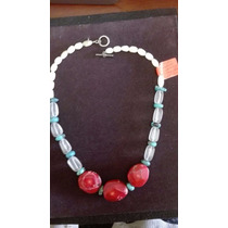 Collar De Madre Perla, Turquesa, Cuarzo Fantasma Y Corales