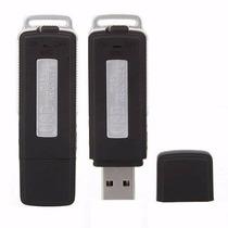 Gravador De Voz Pendrive Espião 8gb Audio Alta Sensibilidade
