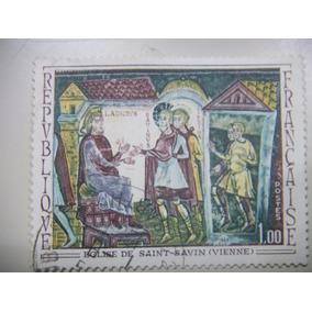 Selos França - Arte Francesa - Eglise De Saint Savin - 1969