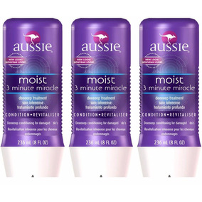 Kit 3 Máscara Moist 3 Minute Miracle Aussie 236ml