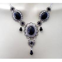 Colar Medieval Drop Collar - Brincos - Onyx - Rsm