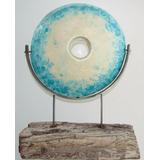Escultura Ceramica Y Madera, Abstracta