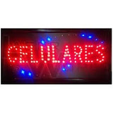Cartel Luminoso Led Palabra Celulares 48 X 25