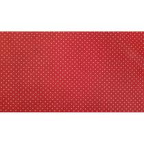 Tnt N. Tecido 1,40m. 40g. Mini Poa Vermelho C/branco 10 Mts.