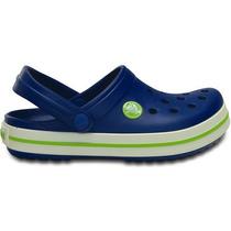 Zapato Crocs Unisex Infantil Crocband Azul/verde