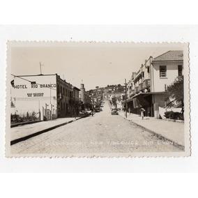 Cartao Postal Fotografico Rua V. Rio Branco S. Lourenço Mg