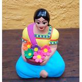 Muñeca Indigena Ceramica Artesanía Mexicana