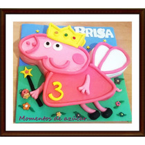 Torta Peppa Pig Adorno Decorada Como Foto Min 2k.mercadopago