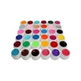 Kit Com 36 Gel Uv Colorido Para Unhas 8 Ml Manicure