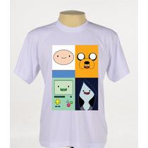 Camisa Camiseta Hora De Aventura Finn Jake Beemo Marceline