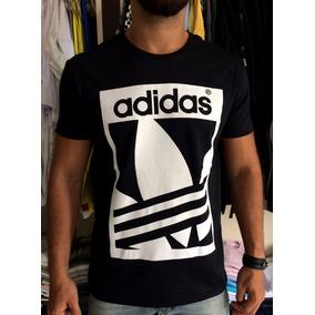 Camiseta Adidas Branca E Azul - Camisetas Manga Curta para Masculino ... c22b23afbbf