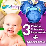 3 Pañales Ecológicos Pio Baby Impermeables + 6 Absorbentes