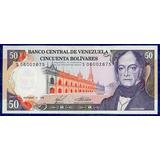 Buen Billete 50 Bolívares Noviembre 1988 S8 Serial Bajo