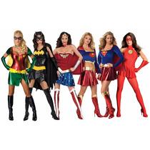 Disfraz Superheroes Mujer Varios Modelos Tallas Y Halloween