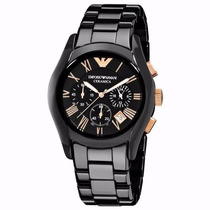 Relógio R7652 Armani Ar1410 Preto + Garantia + Caixa