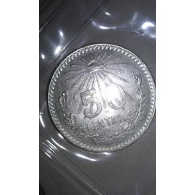 Moneda De Plata 50 Centavos 0.720 1945