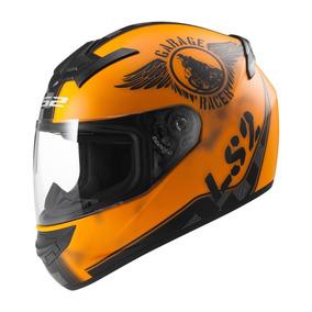 Casco Ls2 Ff 352 Fan Naranja Mate Integral Solo En Fas Motos