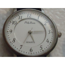 Reloj Philip Persio Dama Caratula Blanca Sin Uso