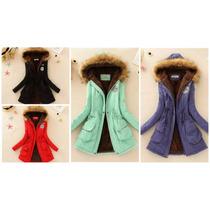 Chaqueta Jacket Mujer Invierno Coat Parka Overcoat Long Fuzz