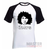 Camiseta Raglan The Doors Jim Morrison - A Melhor Do Mercado