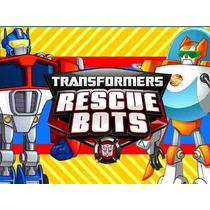 Kit Imprimible Transformers Rescue Bots Diseña Tarjetas #1