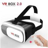 Óculos Realidade Virtual Vr Box 2.0 3d + Controle Bluetooth