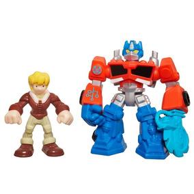 Boneco Transformers Rescue Bots - Optimus Prime E Cody Burns