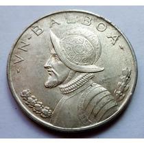 Moneda Panamá 1 Balboa 1947 26,73gr Plata .900