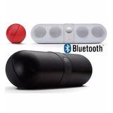 Caixa Som Bluetooth Mp3 Rádio Fm Cartão Sd Usb Aux 8w Rms P2