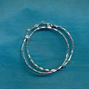 Arracadas Diamantada En Plata Fina Ley.925