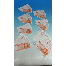 7 Lotes De Billetes Correlativos $ 1 Ley 18.188