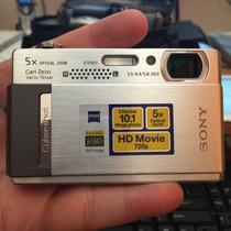 Camara Cyber-shot Sony Modelo Dsc-t500 Gris Plata 10.1 Mpx
