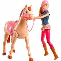 Barbie Family Boneca Com Cavalo - Mattel