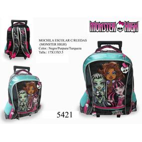Combo Bolsos Maletas Escolares Monster High