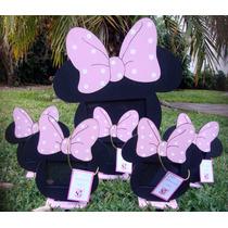 Souvenir Portarretrato Minnie Mickey Bautismo Cumpleaños