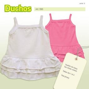 Vestido Infantil Liso Algodon, (9 Meses A 2 Años). T 1-2-3-4