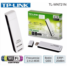 Adaptador Wireless Receptor Tp Link Tl Wn721n Usb 150mbp
