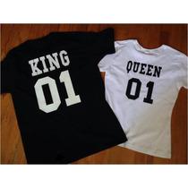 Playeras Pareja Amor King/ Queen (personalizadas) Kq9003