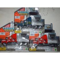 Camión Gandola De Juguete En Metal Y Plastico