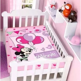 Cobertor Infantil Berço Bebê Disney Minnie Festa Jolitex