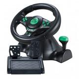 Volante Com Pedal Multilaser Js075 Novo Xbox 360/ps2/ps3/pc