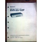 Sony Bvr-50 Manual De Usuario