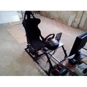 Simulador Estructura Cochpit Para Volante Logitech G25 G27 !