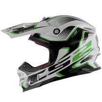 Capacete Ls2 Mx456 Compass Branco/verde 57/58 Rs1