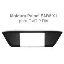 Moldura Painel Bmw X1 Multimidia Dvd 2 Din Contra Frente