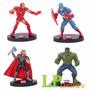 Vengadores X Unidad Iron Man Thor Adorno De Torta