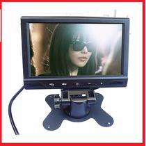 Tela Monitor Lcd 7 Colorida Com Controle Usb Sd Mp5