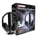Audífonos Inalambricos 5 En 1 Mp3 Pc Tv Radio Fm