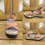 Sandalia De Plataforma Corcho Y Cuero - Calzados La Fabrica