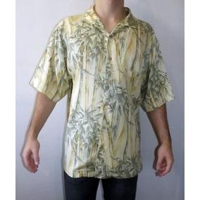Camisa Hawaii Aloha Palha Luxo Jamaica Jaxx Bambu 111-257